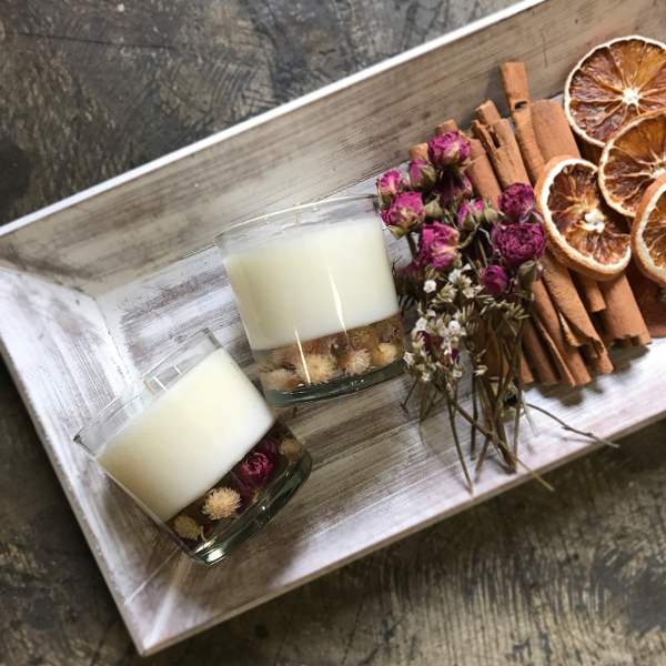 Dried Flower Candle