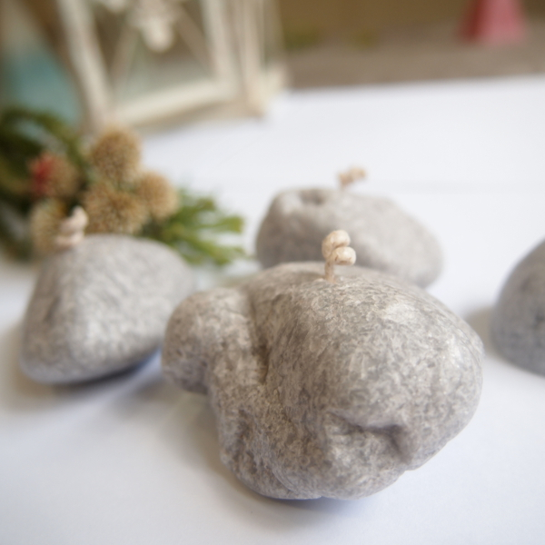 Pebble Candles - Grey