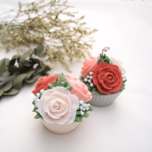 Soy Flower Cupcakes